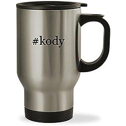 #kody - 14oz Hashtag Sturdy Stainless Steel Travel Mug, Silver