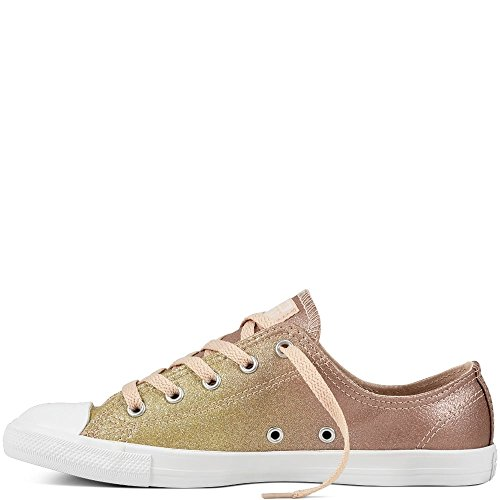 Converse Chucks 559870C Gold Chuck Taylor All Star Dainty Ox Gold Particle Beige White Gold Particle Beige White