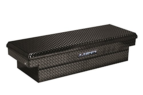 (Lund 79306PB 70-Inch Aluminum Push Button Full Lid Cross Bed Truck Tool Box, Diamond Plated, Black)