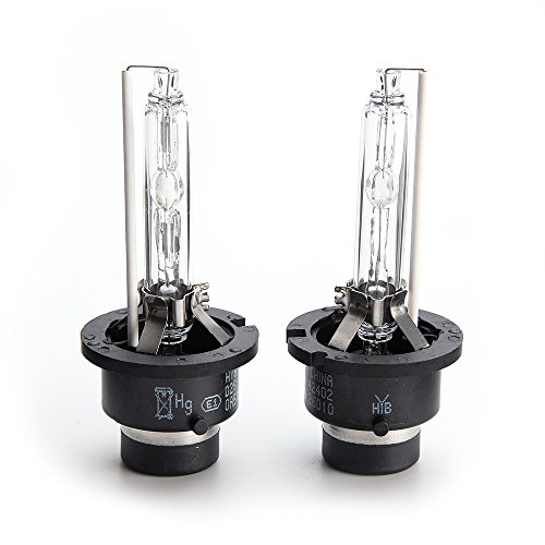 HYB D2S Headlight Bulb New Replacement HID Headlights Xenon Headlamp Bulbs 6000K 35W (Pack of 2)
