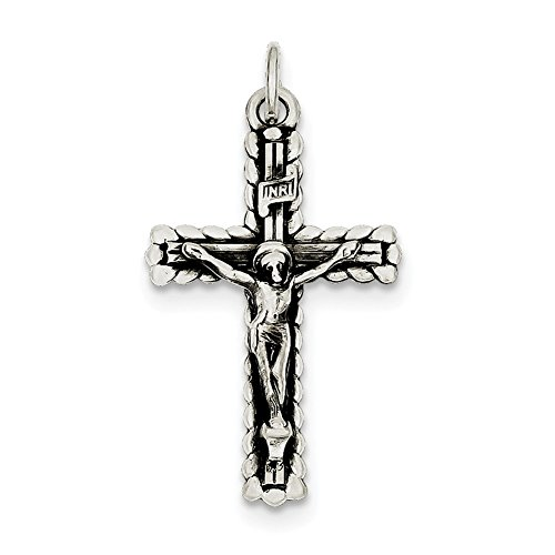 Sterling Silver INRI Crucifix Pendant QC3404