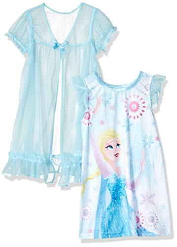 (Disney Girls' Toddler Frozen Nightgown, Ice Blue, 3T )