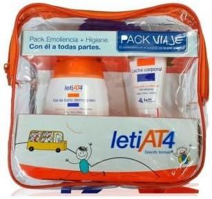 PACK VIAJE LETI AT4 LECHE CORPORAL 50ML + GEL BAÑO DERMOGRASO 100ML: Amazon.es: Bebé