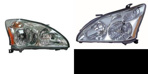 Go-Parts PAIR/SET OE Replacement for 2007-2009 Lexus RX350 Front Headlights Headlamps Assemblies Front Housing/Lens / Cover - Left & Right (Driver & Passenger) Side for Lexus RX350