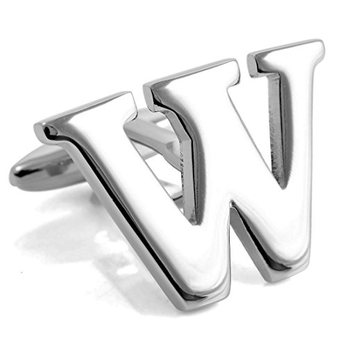 INBLUE Rhodium Cufflinks Initial Business