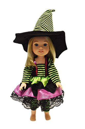 7241c66eaf9 My Brittany s Modern Halloween Witch Costume For American Girl Dolls Wellie  Wishers