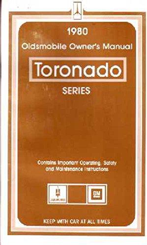 bishko automotive literature 1980 Oldsmobile Toronado Owners Manual User Guide Reference Operator Book Fuses