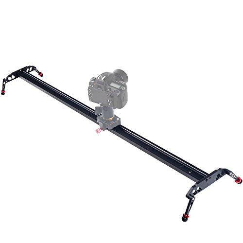 ASHANKS 47'' 120cm Camera Video Slider,4 Ball-bearings Camera Track Stabilizer Rail, Portable Film Maker System for DSLR DV Camcorder Movie Photography to Wedding Shooting and Youtuber Film-making by ASHANKS