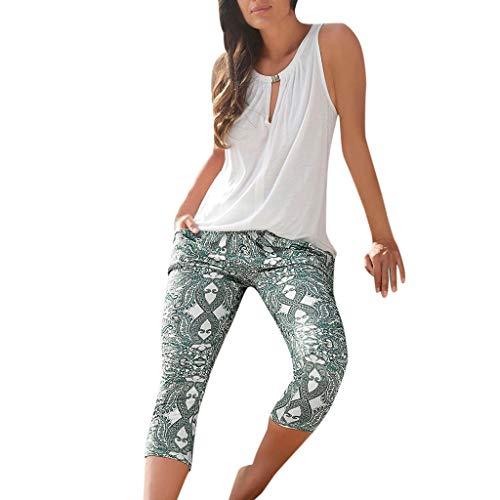 Simayixx Women's Ultra Soft Printed Leggings Lined Pants High Waist Buttery Stretchy Warm Legging Summer Beach Trousers Green ()