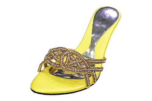 san1011 W bleu femmes or Parti Soirée rouge W Talon violet royal Prom taille Sandales mariage mariée chaussures Jaune de Bloc amp; Mesdames rURrF