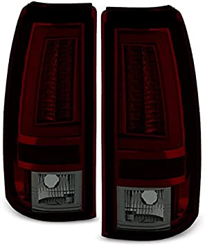 Fits Smoked 03-06 Silverado 04-06 Sierra Pickup LED Tail Lights Lamps Left+Right
