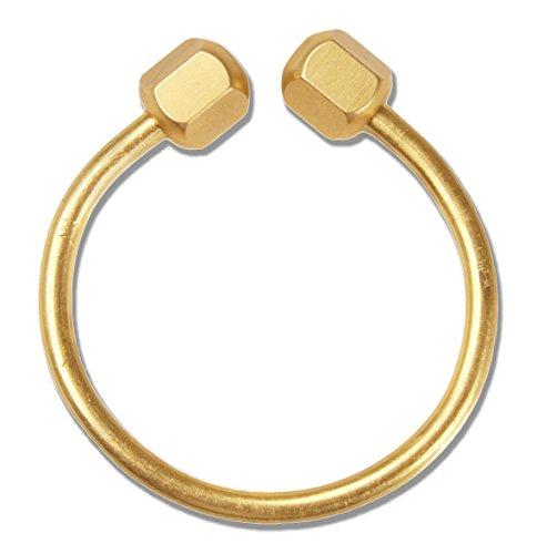 Cevinee™ Creative Horseshoe Screwball Key Chain Ring, Solid Easy-open Key Holder - Brass