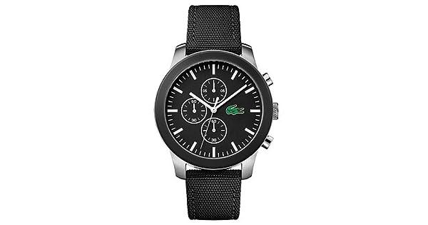 42b84a211100e Relógio Lacoste Masculino Nylon Preto - 2010950  Amazon.com.br  Amazon Moda