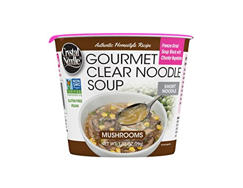 Crystal Noodle Non-GMO Short Noodle Soup, Mushroom, 1.02 Ounce (Pack of 6)
