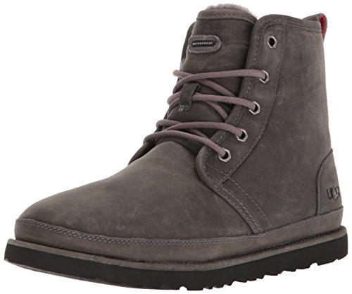 UGG Men's Harkley Waterproof Chukka Boot, Charcoal, 8 M US (Premium Waterproof Chukka)