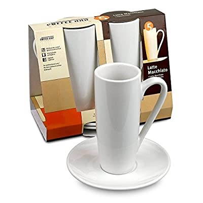 Konitz Coffee Bar Latte Macchiato Cups/Saucers, Set of 2