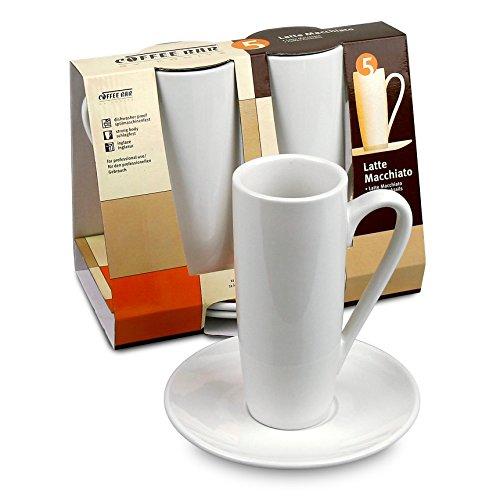 Konitz Coffee Bar 8 oz. Latte Macchiato Cup and Saucer