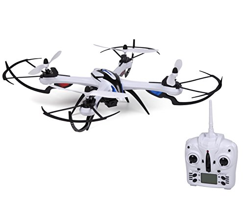 World Tech Toys Prowler Spy Drone Video Camera & Photo 2.4GHz 4.5CH RC Quadcopter Spy Drone, White, 22.75 x 22.75 x 6.5
