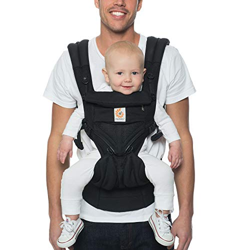 Ergobaby Omni 360 Cool Air Mesh All-in-One Ergonomic Baby Carrier, All Carry Positions, Newborn to Toddler, Onyx Black