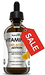 Vitamin C Serum With Hyaluronic Acid - Optimal Face, Eye & Neck Skin Care – Smoothens Skin & Improves Elasticity – Vitamin C – Natural & Organic Pharmaceutical Grade Serum