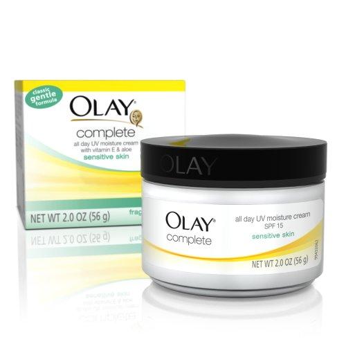 Olay Complet de jour hydratante Crème UV, FPS 15, peau sensible, 2 once (Pack de 3)