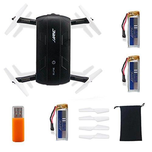 Tiean JJRC H37 HD Camera WIFI FPV RC Quadcopter Selfie Foldable + 3PC 500mAh Battery by Tiean