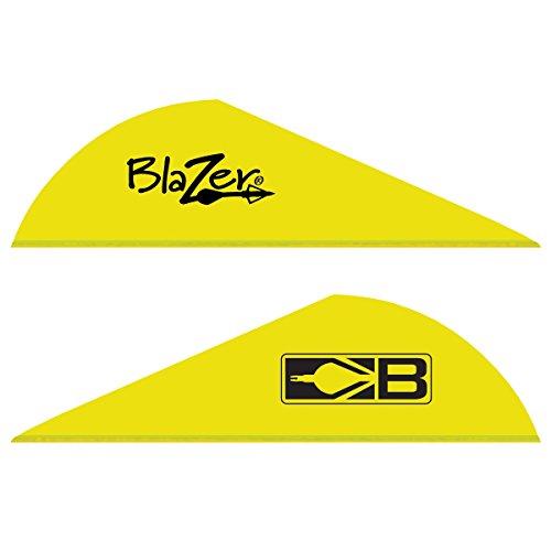 Bohning Blazer Archery Vane (100-Pack), Neon Yellow (Vanes Neon Blazer Yellow)