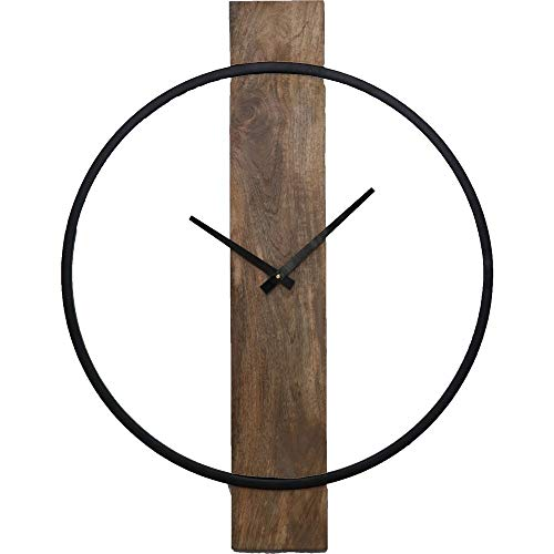 Ren-Wil CL220 Clock, Small, Natural Wood, Black (Clocks Designer For Sale)