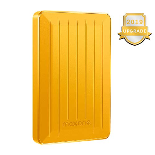 Portable External Hard Drive 320GB - Maxone Upgrade Portable HDD USB 3.0 for PC, Laptop, Mac, Xbox one, PS4, Chromebook, Smart TV - Yellow
