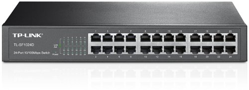 TP-Link TL-SF1024D 24 Port Netzwerk Switch (lüfterloses Passivkühlkonzept)