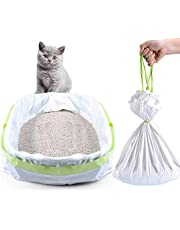 Cat Litter Box Liners, Muzmate14 Count Jumbo Extra Durable Large Drawstring Kitty Litter Pan Bags Cat Waste Litter Bags Pet Cat Supplies
