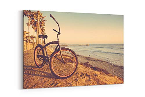 Bicycle Beach Bike and Cruiser in San Diego United States - Canvas Wall Art Gallery Wrapped 18