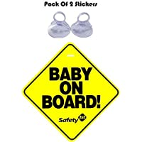 CVANU Baby On Board Safty Windows Car Sticker (Pack of 2) CV-1