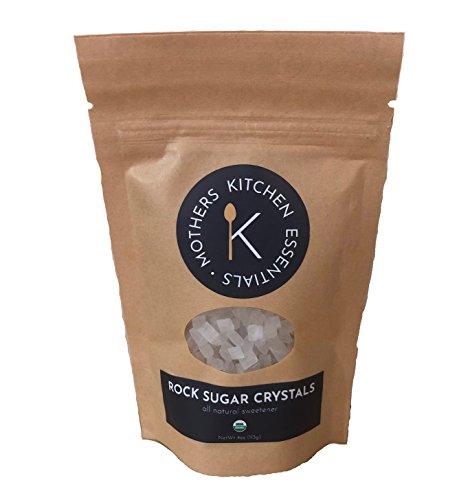 Natural Rock Cane Sugar - Mothers Kitchen Essentials Organic Rock Sugar Crystals