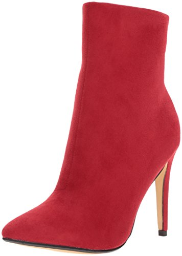 Chinese Wasvrouw Lied Vogel Boot Rood Suede