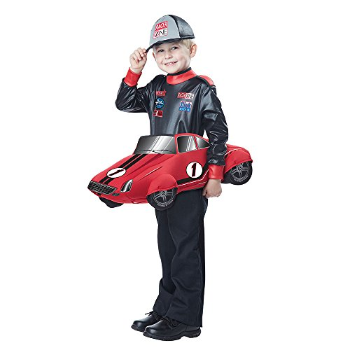 [California Costumes Speedway Champion Costume, Black/Red, Toddler (3-6)] (Childs Racing Driver Costume)