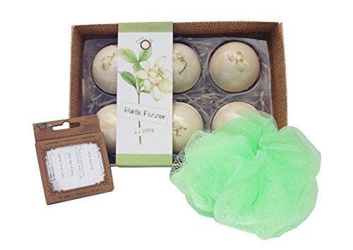 Best Green Bath Bomb Fizzy Beauty Bath Body Spa Set Unique Last Minute Stocking Stuffer Birthday Idea Girlfriend BFF Mom Grandma Young Ladies (Christma Gift Ideas)