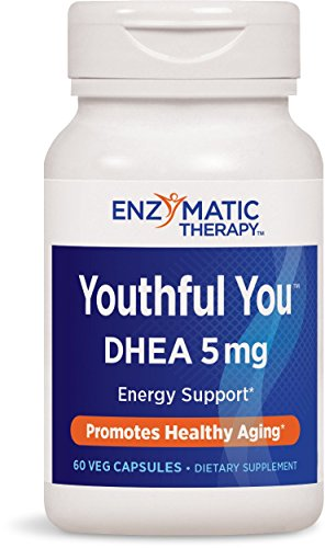 Enzymatic Therapy Youthful YouTM DHEA 5mg Energy Support, 60 VCaps