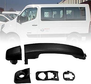 Manija de puerta trasera izquierda exterior para Renault Master Opel Movano Nissan NV400: Amazon.es: Coche y moto