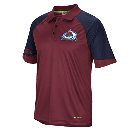Center Performance (Colorado Avalanche Reebok 2015 Center Ice Team Performance Polo Shirt)