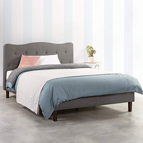 Awe Inspiring Amazon Com Mellow Janne Upholstered Platform Bed Modern Caraccident5 Cool Chair Designs And Ideas Caraccident5Info