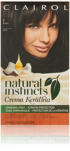 (Clairol Natural Instincts Cream Keratina Hair Color Kit, 2 Espresso Crème, Clairol Natural Instincts Hair Color, Semi-Permanent Hair Dye)