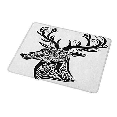 Gaming Mouse Pad Custom Antlers,Tattoo Pattern in The