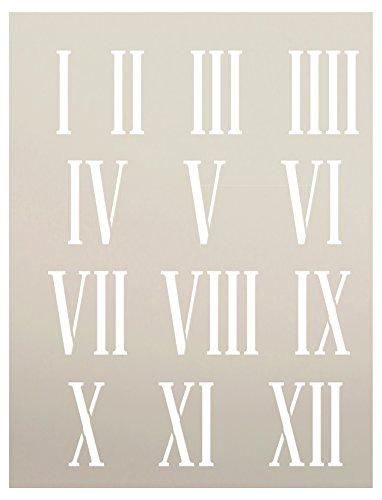 Clock Numerals Stencil by StudioR12 | Roman Numbers