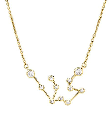 Aquarius Charm Gold Plated - Sterling Forever Aquarius Constellation Necklace - 'When Stars Align' Constellation Necklace, Gold Plated, Women's Zodiac Necklace