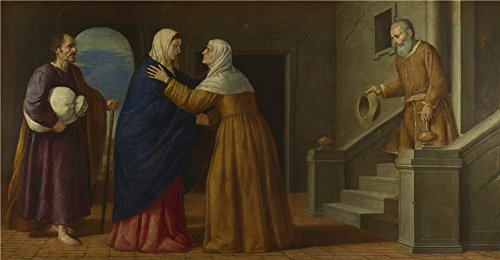 Lilly And Marshall Halloween Costume ('French Or North Italian The Visitation ' Oil Painting, 10 X 19 Inch / 25 X 49 Cm ,printed On High Quality Polyster Canvas ,this Replica Art DecorativePrints On Canvas Is Perfectly Suitalbe For Gift For Relatives And Home Decoration And Gifts)