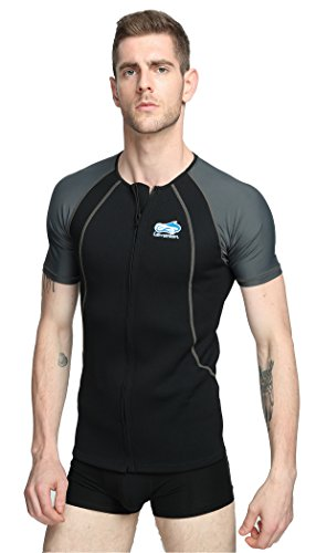Lemorecn Wetsuits 1.5mm Neoprene Rash Guard for Men and Women Scuba Diving Short Sleeve Shirt