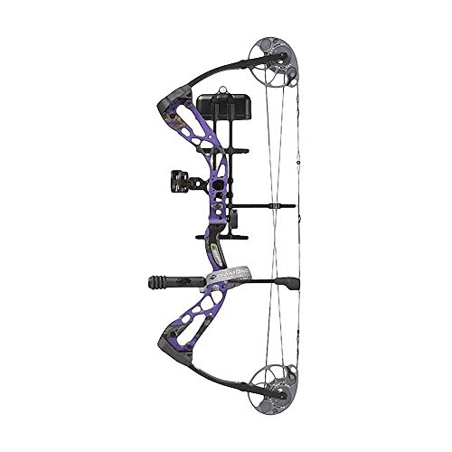 Diamond Archery Edge Sb-1 Bow Pkg Purple Blaze Left Hand 15-30 7-70 Lbs