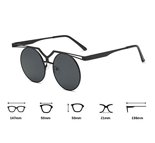 Hop UV400 Noir conduite Rouge cadre soleil Hip Keephen polarisé Classique de Lunettes Ronde Vintage Non lunettes UqtT1Sx