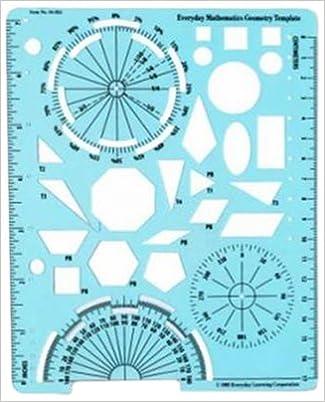 Amazon.com: Grades 4-6: Geometry Template (Set of 10) (EVERYDAY MATH ...
